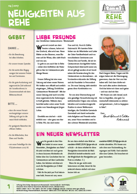 Newsletter 04.17
